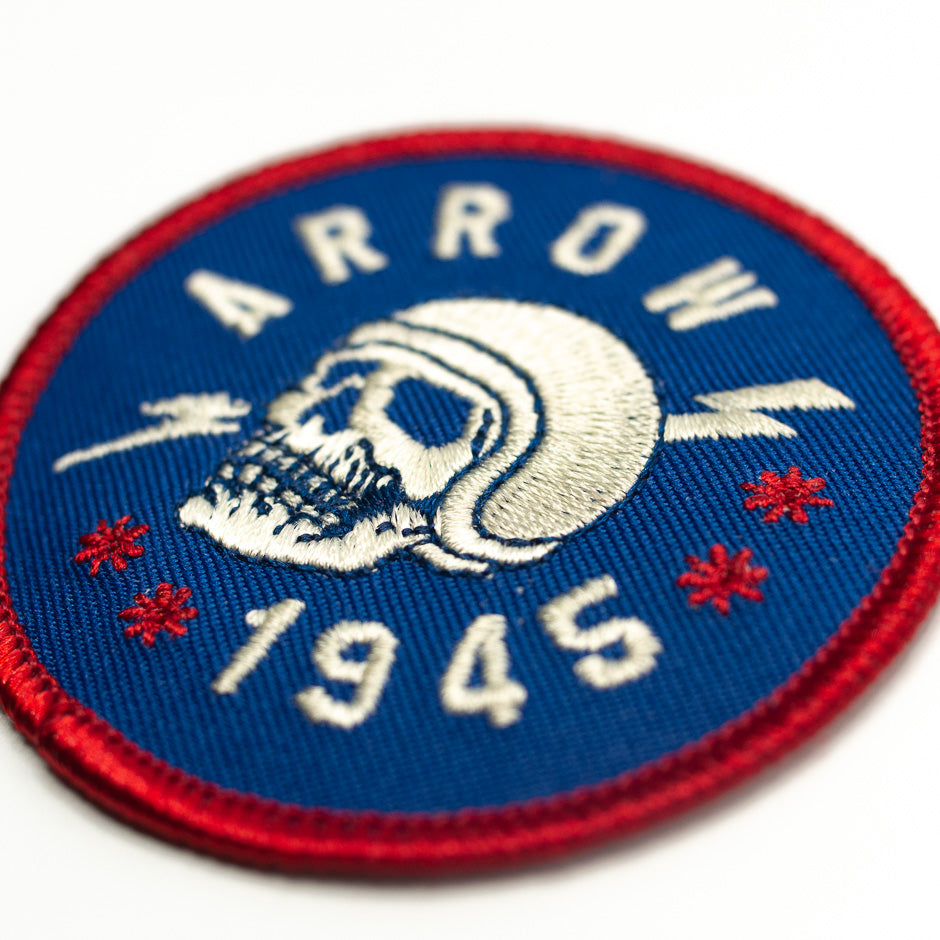 Arrow Varsity Roller Coaster Patch | Detail