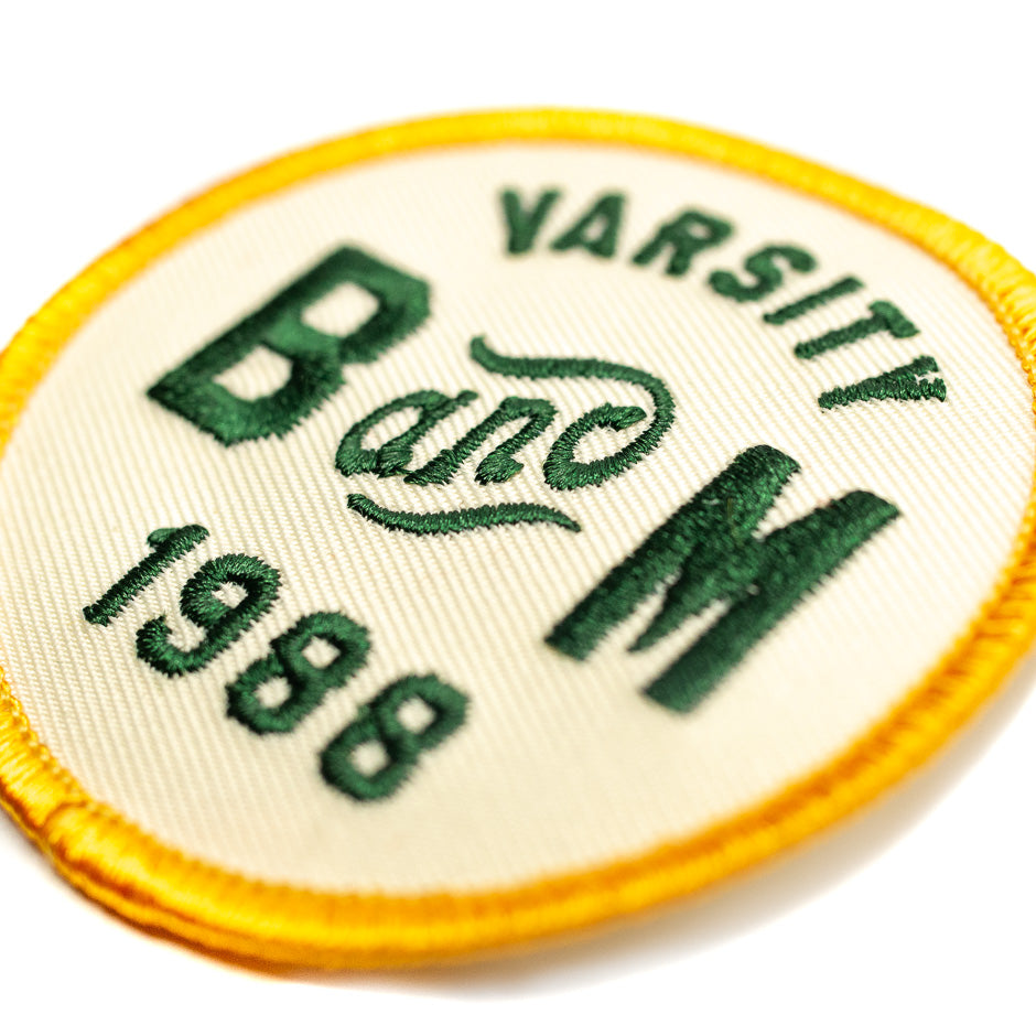 B&M Varsity Roller Coaster Patch | Detail