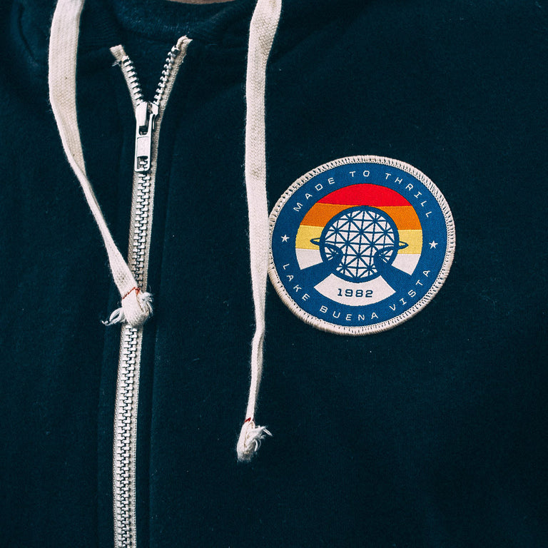 Retro Vintage EPCOT Center Patch | Sewn on a sweatshirt