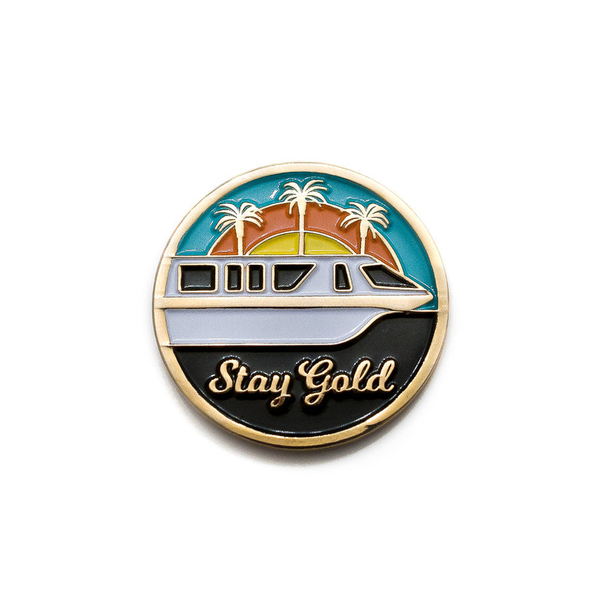 WDW Monorail Gold Pin
