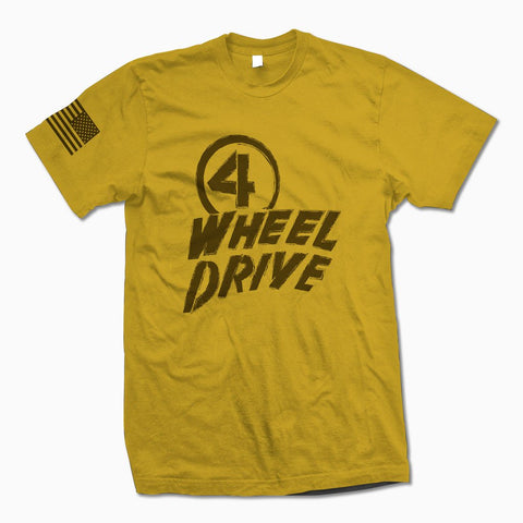 Yellow 4 Wheel Drive TShirt - Jeep Threads