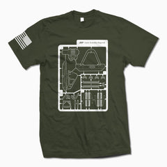 Army Green Some Assembly Required T-Shirt - Jeep Threads