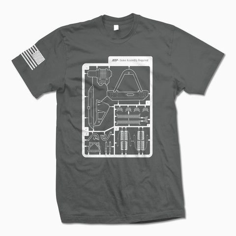 Charcoal Some Assembly Required TShirt