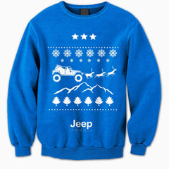 Jeep Threads Blue Ugly Christmas Sweater