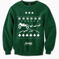 Jeep Threads Green Ugly Christmas Sweater
