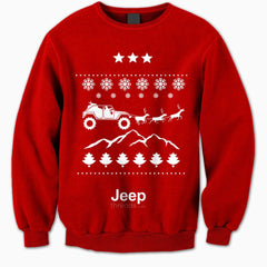 Jeep Threads Red Ugly Christmas Sweater