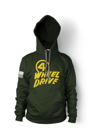 Green 4 Wheel Drive Hoodie - Jeep Threads