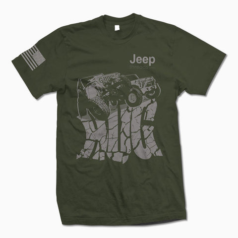 Army Green Jeep Hug TShirt