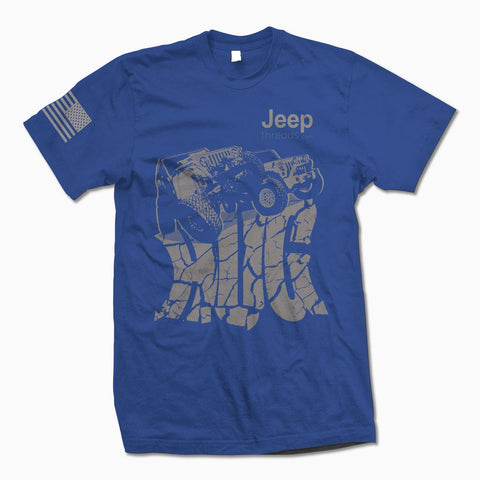 Royal Blue Jeep Hug TShirt