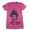 Image of Pink Jeep Hair Don't Care TShirt - Jeep Threads
