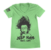 Image of Green Jeep Hair Don't Care TShirt - Jeep Threads
