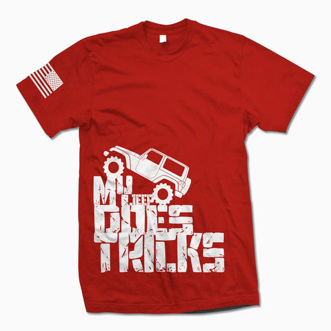 Red My Jeep Does Tricks TShirt