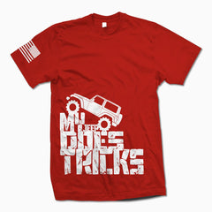 Red My Jeep Does Tricks T-Shirt