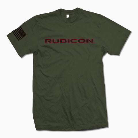 Army Green Rubicon T-shirt - Jeep THreads