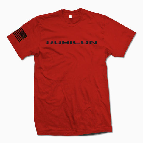 Red Rubicon TShirt - Jeep Threads