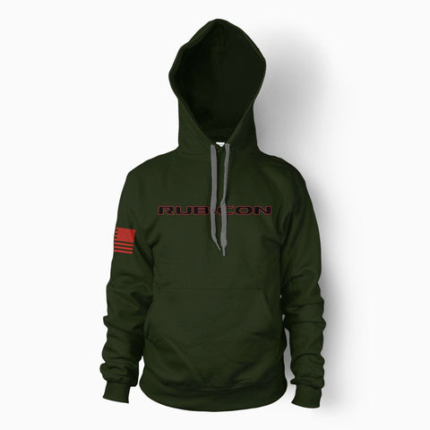 Army Green Rubicon Hoodie - Jeep Threads