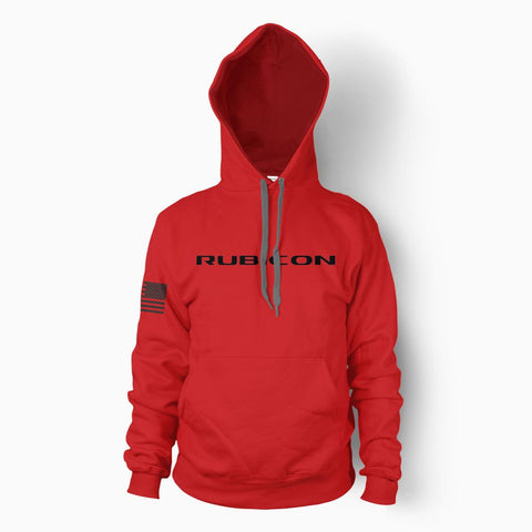 Red Rubicon Hoodie - Jeep Threads