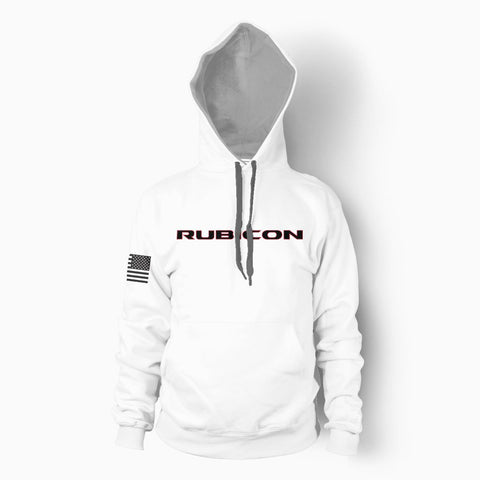 White Rubicon Hoodie - Jeep Threads