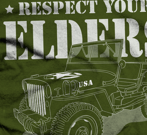 Respect Your Elders Close Up TShirt - Jeep Threads