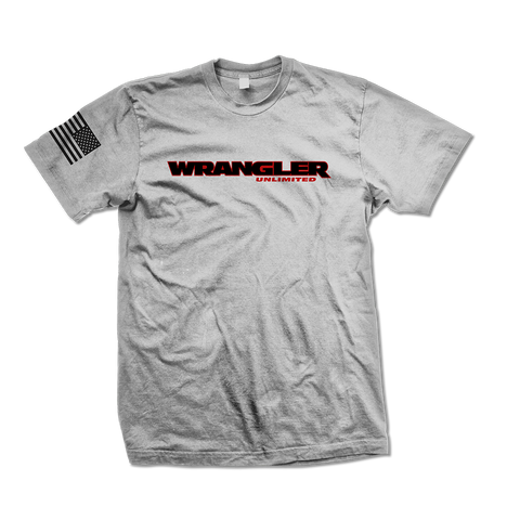 Heather Gray Wrangler Unlimited TShirt - Jeep Threads