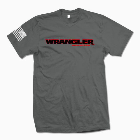 Charcoal Gray Wrangler Unlimited TShirt - Jeep Threads