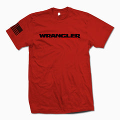 Red Wrangler Unlimited TShirt - Jeep Threads