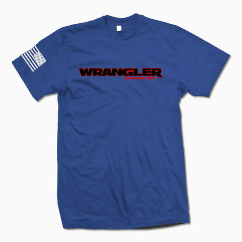 Royal Blue Wrangler Unlimited TShirt - Jeep Threads