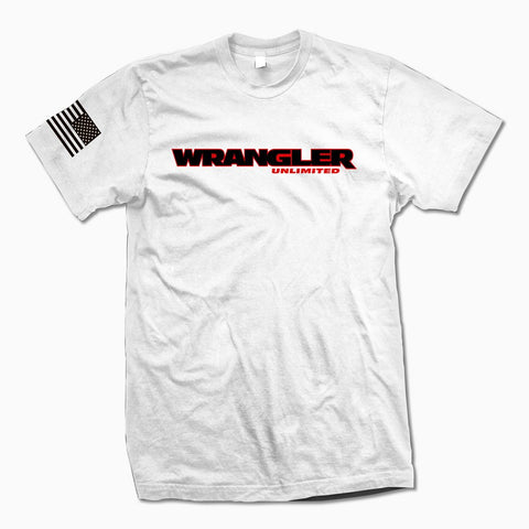 White Wrangler Unlimited TShirt - Jeep Threads
