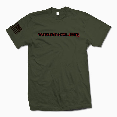 Army Green Wrangler T-Shirt - Jeep Threads