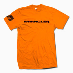 Orange Wrangler TSHirt - Jeep Threads