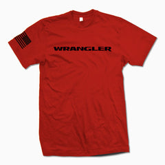 Red Wrangler TShirt - Jeep Threads