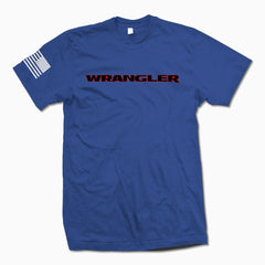 Royal Blue Wrangler TShirt - Jeep Threads
