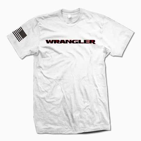 White Wrangler TShirt - Jeep Threads