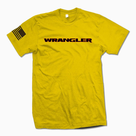 Yellow Wrangler TShirt - Jeep Threads