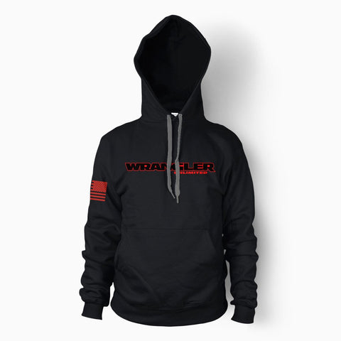 Black Wrangler Unlimited Hoodie - Jeep Threads