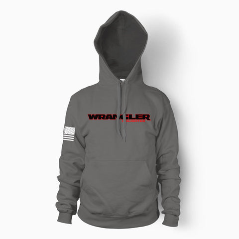 Charcoal Gray Wrangler Unlimited Hoodie - Jeep Threads