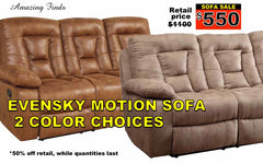 Evensky reclining sofa