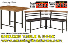 NEW Sheldon dining nook 50% off