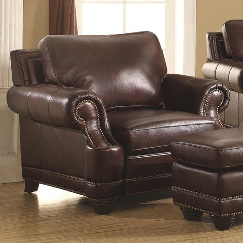 Crawford leather club chair CO-504963