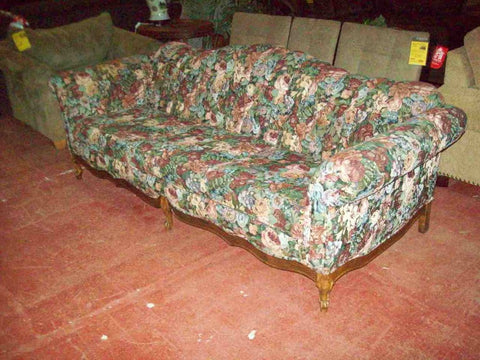 Floral claw foot sofa 19396