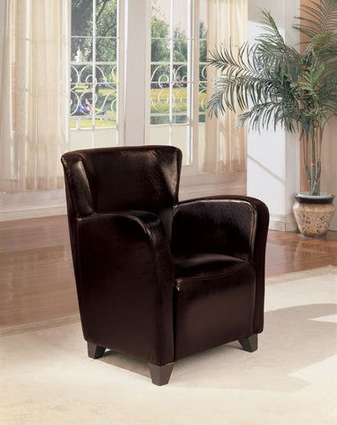 Monarch Specialties accent chair high back dark brown leatherette CO-900234