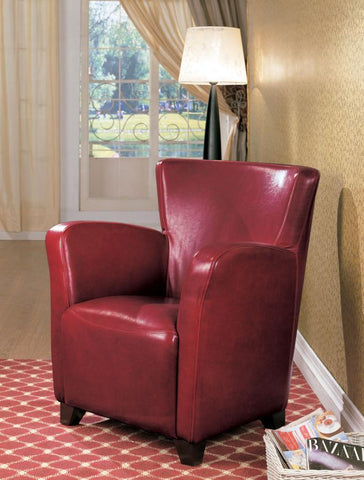 Monarch Specialties accent chair high back red leatherette CO-900235