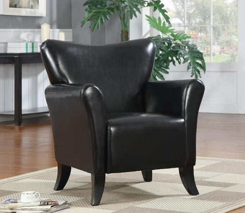 Accent chair black leatherette CO-900253
