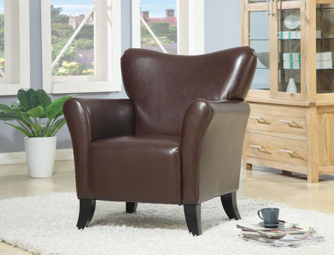 CO-900254 Accent chair brown leatherette