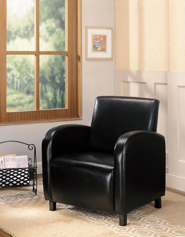 Accent chair high back dark brown leatherette CO-900334