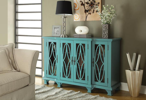 Accent cabinet teal CO-950243