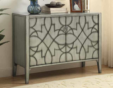 Accent cabinet gray patterned CO-950632