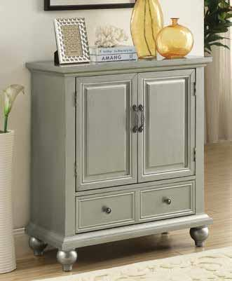 Accent cabinet silver CO-950632