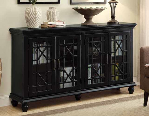 Accent cabinet black CO-950639