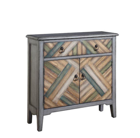 Accent cabinet grey patterned CO-950652